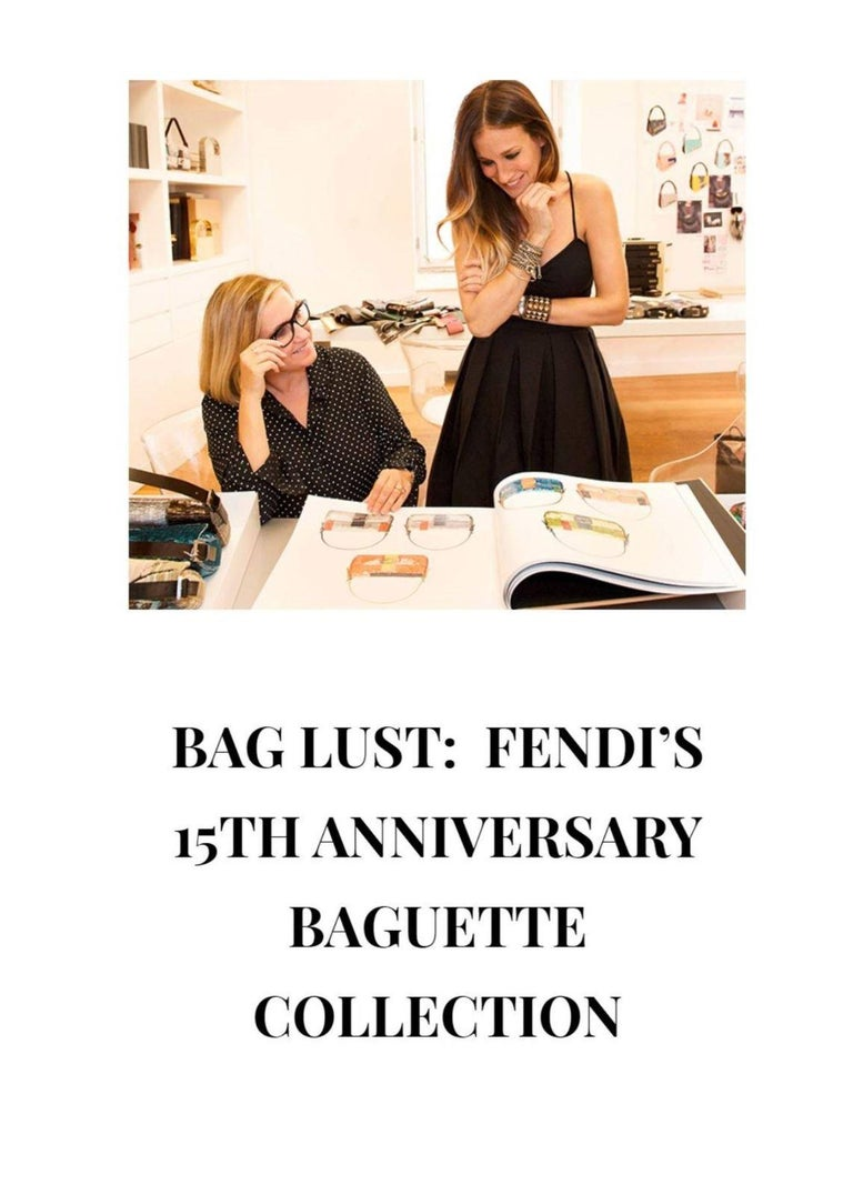 Blue New Fendi Hand Painted Python Bag Featured in the 15th Anniversary Baguette Book