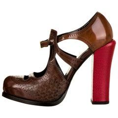 New Fendi Karl Lagerfeld F/W 2011 Leather Platform Pumps Heels Sz 37.5 $1378