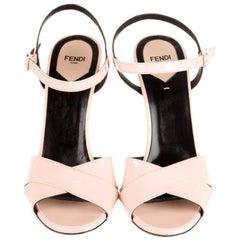 New Fendi Karl Lagerfeld Runway 2015 Heels Sandals Sz 40