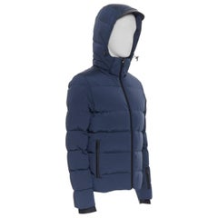 new FENDI Monster Face Ski navy blue goose down padded puffer jacket IT46 S