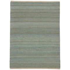 New Flat-Weave Dhurrie Rug with Coastal Cottage Style