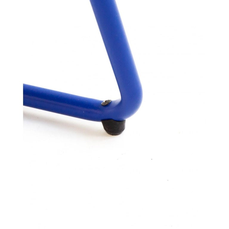 New Folding Iron Chair Blue 5002 by Houtique  For Sale 1