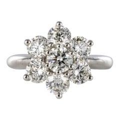 New French Diamond Platinum Engagement Ring