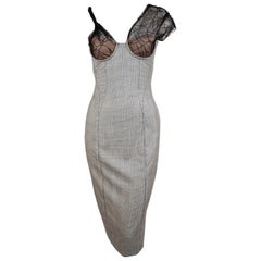 1998 Gianni Versace Couture asymmetrical bustier dress - unworn