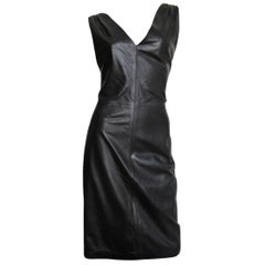 New Gianni Versace Leather Dress 1990s