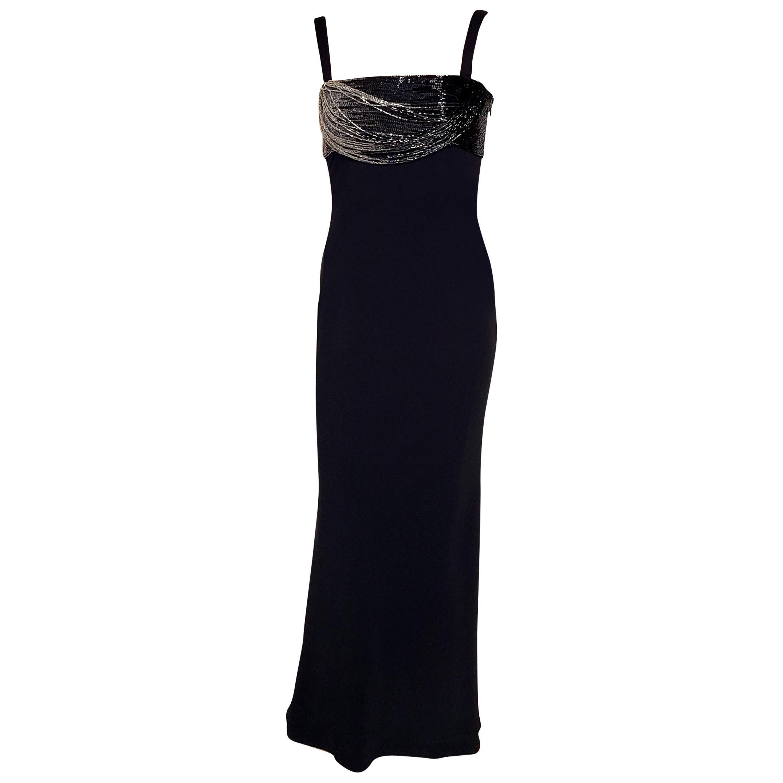 GIANNI VERSACE VINTAGE BLACK CORSET DRESS as seen on Tina