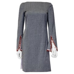 NEW GIANNI VERSACE VINTAGE GRAY WOOL and COTTON TUNIC 38 - 4