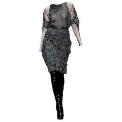 New Gucci 90th Anniversary Ad Runway Video Silk Dress F/W 2011 Sz 36