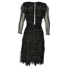 New Gucci 90th Anniversary Ad Runway Video Silk Dress F/W 2011 Sz 40