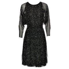New Gucci 90th Anniversary Ad Runway Video Silk Dress F/W 2011 Sz 42