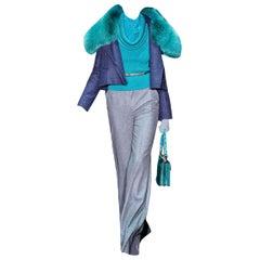 New Gucci 90th Anniversary Wool & Cashmere Runway Pants F/W 2011 Sz 40 U.S. 2/4