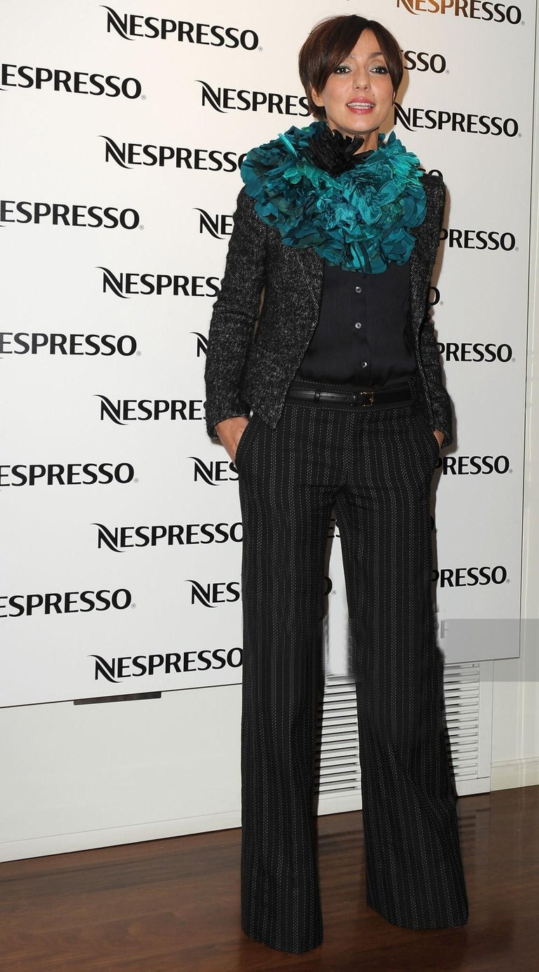 Black New Gucci 90th Anniversary Wool Runway Pants F/W 2011 Sz 38 For Sale