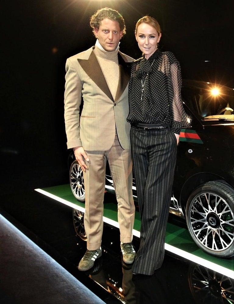 New Gucci 90th Anniversary Wool Runway Pants F/W 2011 Sz 38 For Sale 3