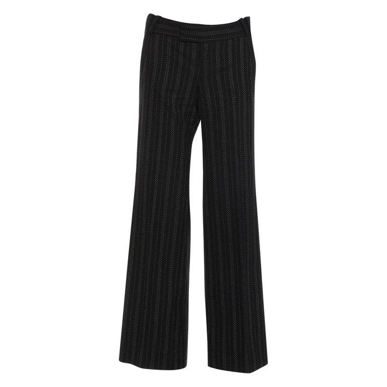 Women's New Gucci 90th Anniversary Wool Runway Pants F/W 2011 Sz 38 For Sale