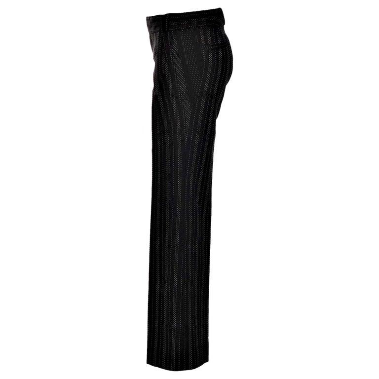 New Gucci 90th Anniversary Wool Runway Pants F/W 2011 Sz 38 For Sale