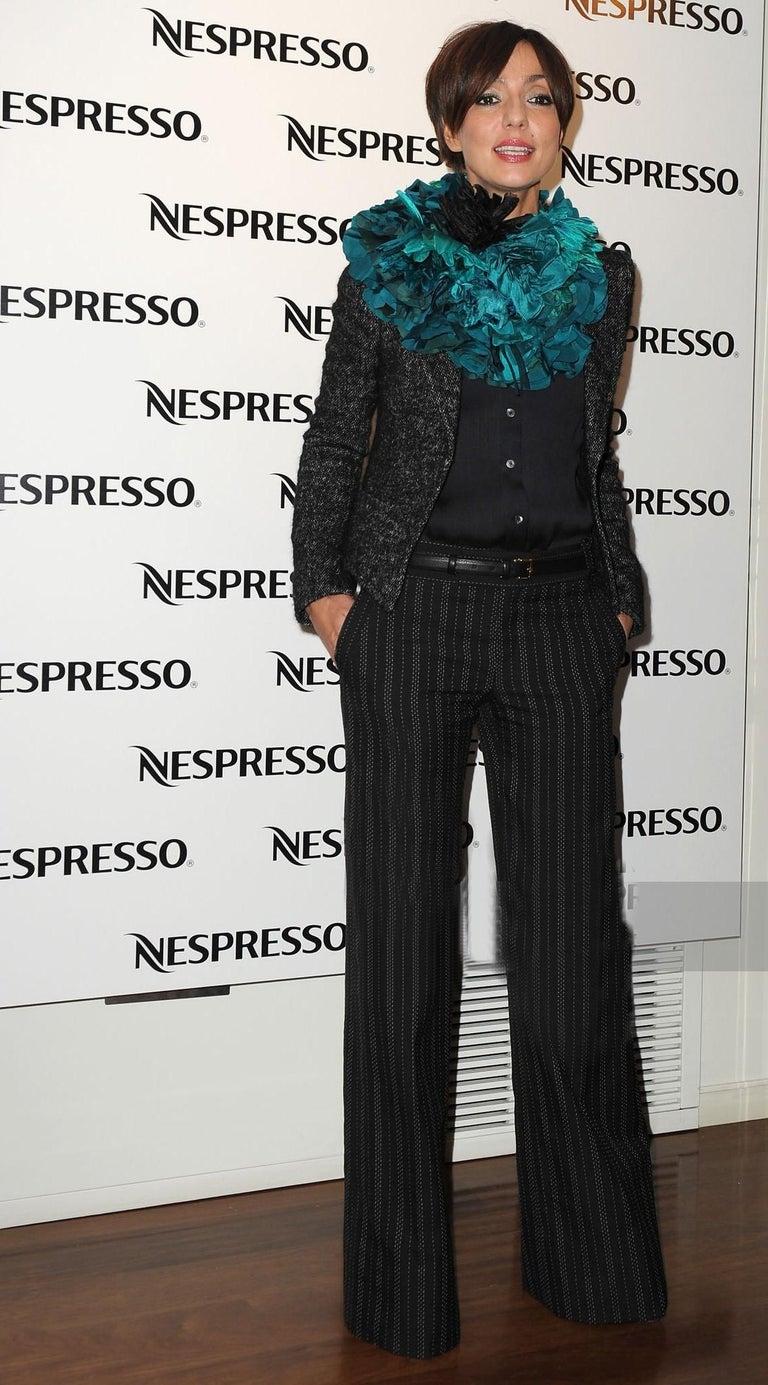 Black New Gucci 90th Anniversary Wool Runway Pants F/W 2011 Sz 42 For Sale