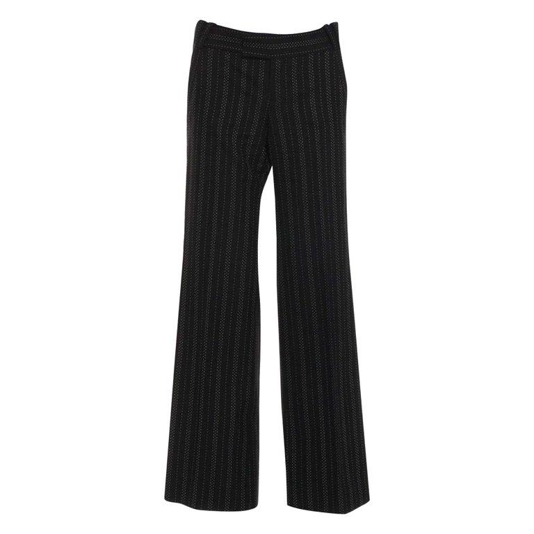 Women's New Gucci 90th Anniversary Wool Runway Pants F/W 2011 Sz 42 For Sale
