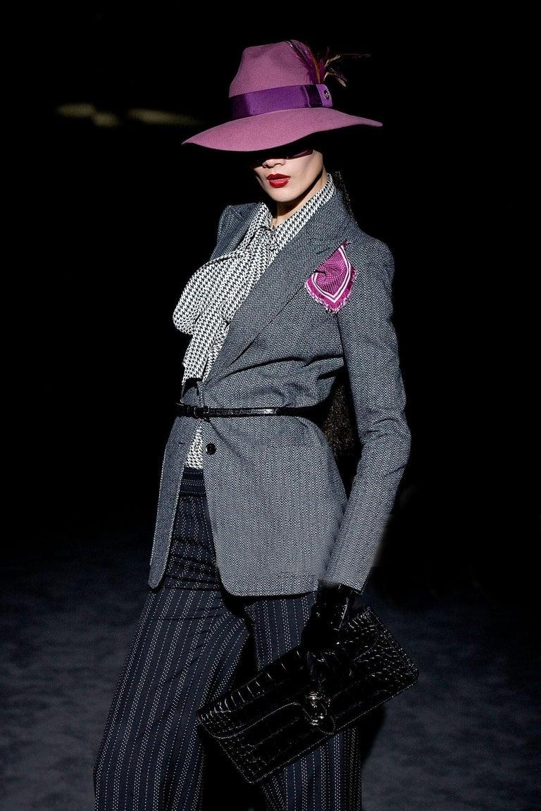 New Gucci 90th Anniversary Wool Runway Pants F/W 2011 Sz 42 For Sale 2