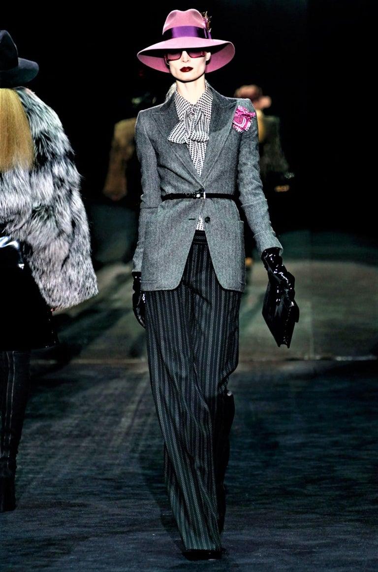 New Gucci 90th Anniversary Wool Runway Pants F/W 2011 Sz 42 For Sale 3
