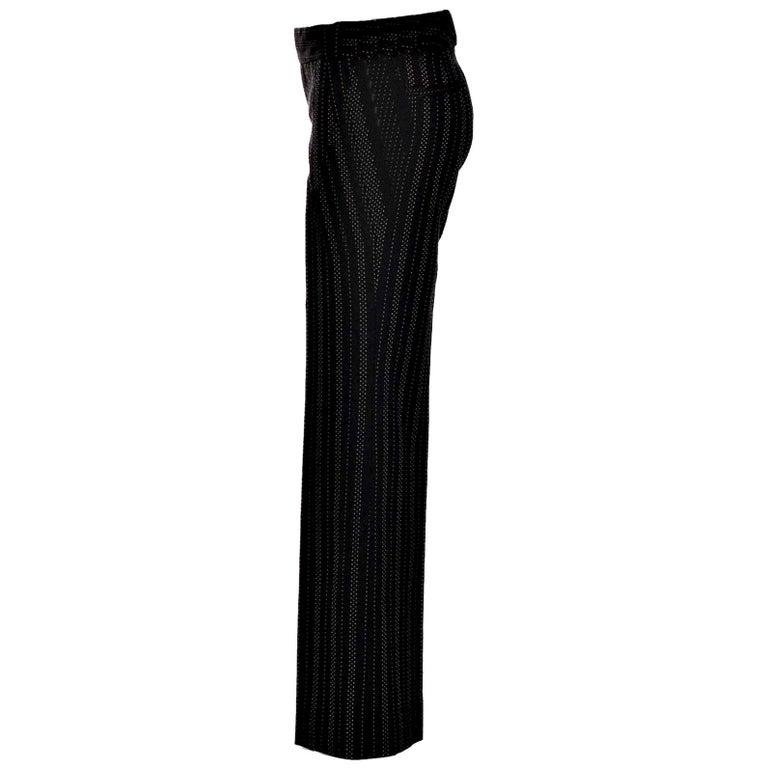 New Gucci 90th Anniversary Wool Runway Pants F/W 2011 Sz 42 For Sale