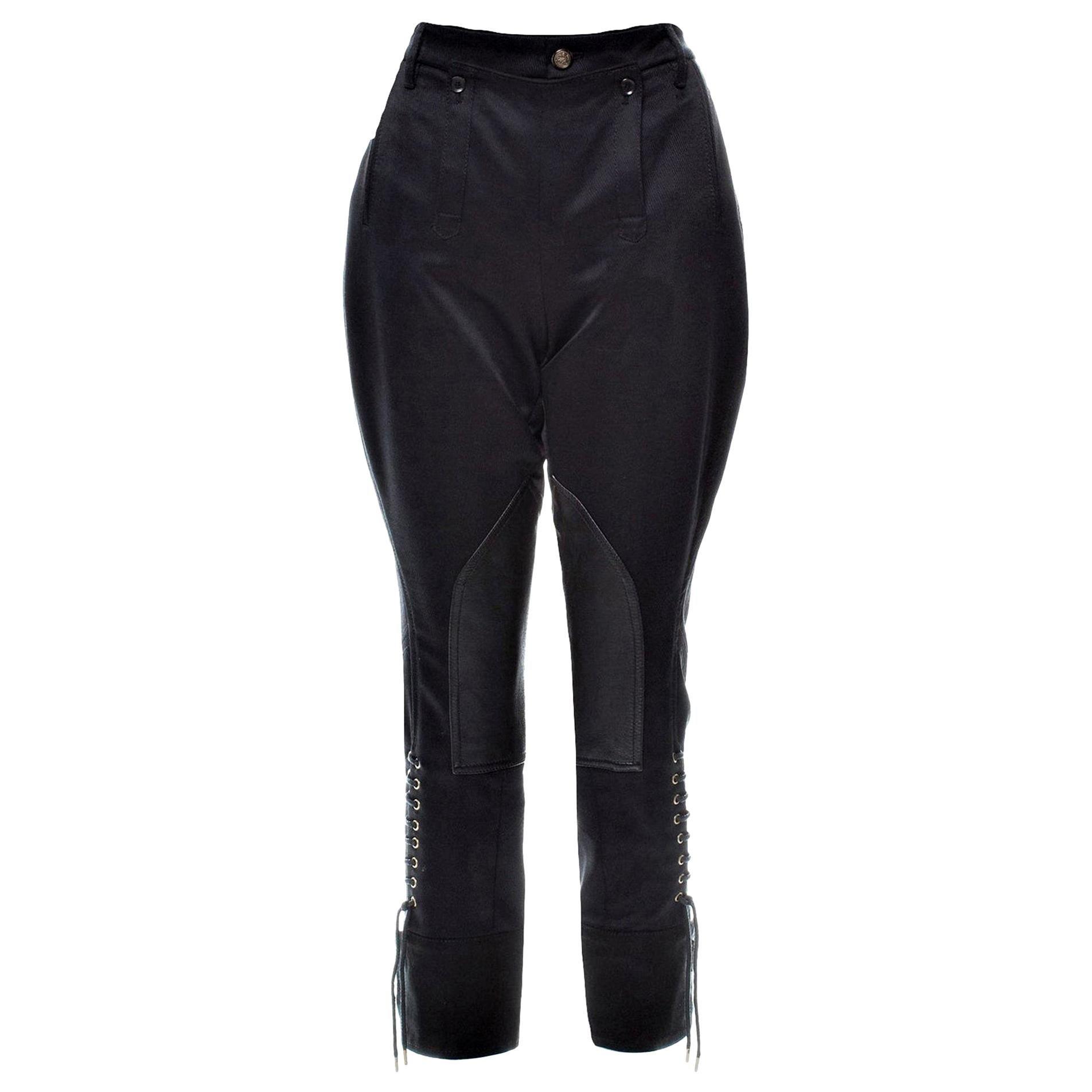 New Gucci Black Runway Pants F/W 2008 Sz 42 With Tags $1725