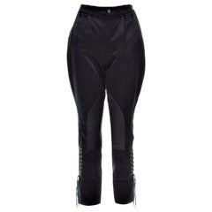 New Gucci Black Runway Pants F/W 2008 Sz 42 With Tags $1725
