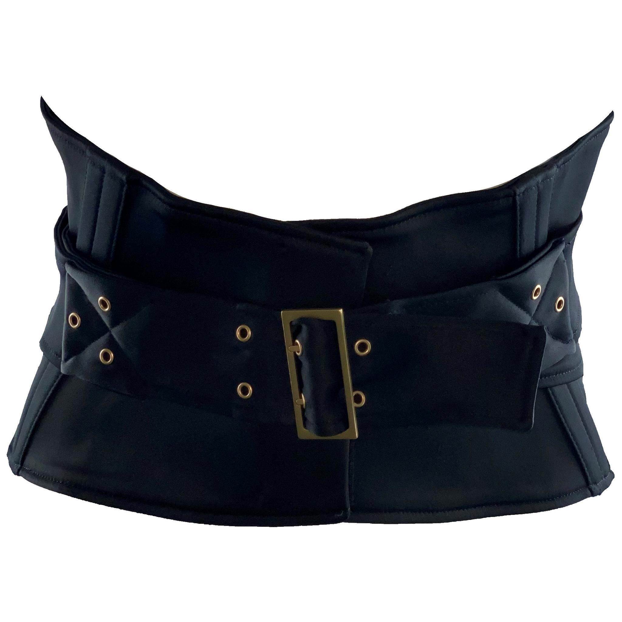 NEW Gucci by Tom Ford 2003 Black Waist Corset Belt