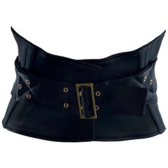 NEW Gucci by Tom Ford 2003 Black Waist Corset Belt