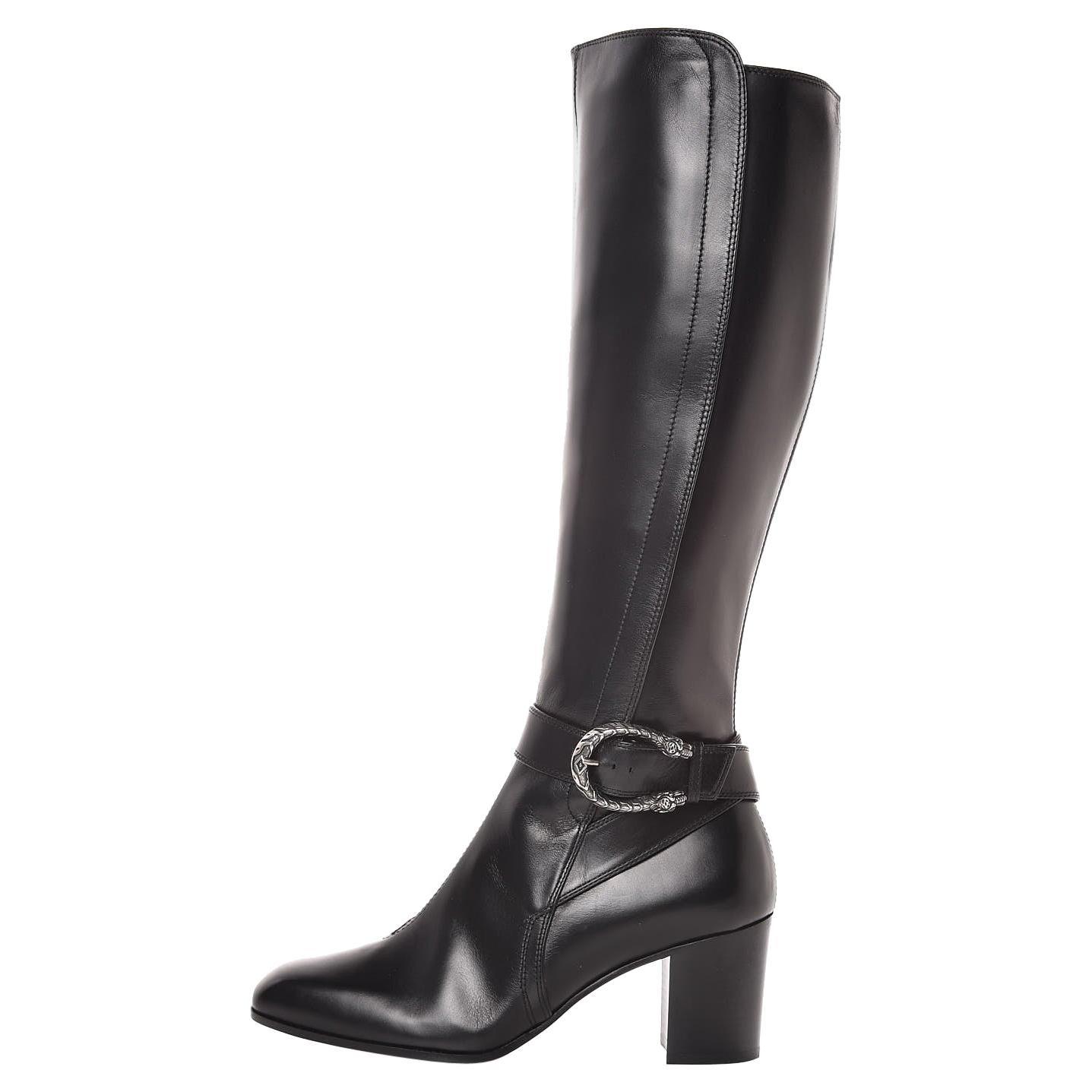 New GUCCI Calfskin Dionysus Knee High Boots 36