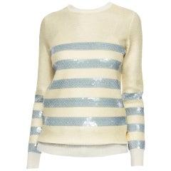New Gucci Cruise Resort 2015 Ad Cashmere Sequin Sweater  Sz L $1500