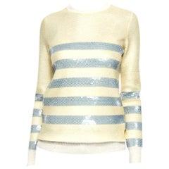 New Gucci Cruise Resort 2015 Ad Cashmere Sequin Sweater Sz L