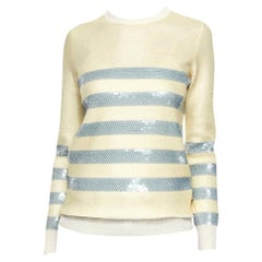 New Gucci Cruise Resort 2015 Ad Cashmere Sequin Sweater  Sz M