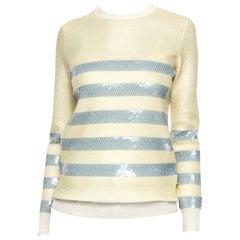 New Gucci Cruise Resort 2015 Ad Cashmere Sequin Sweater  Sz M