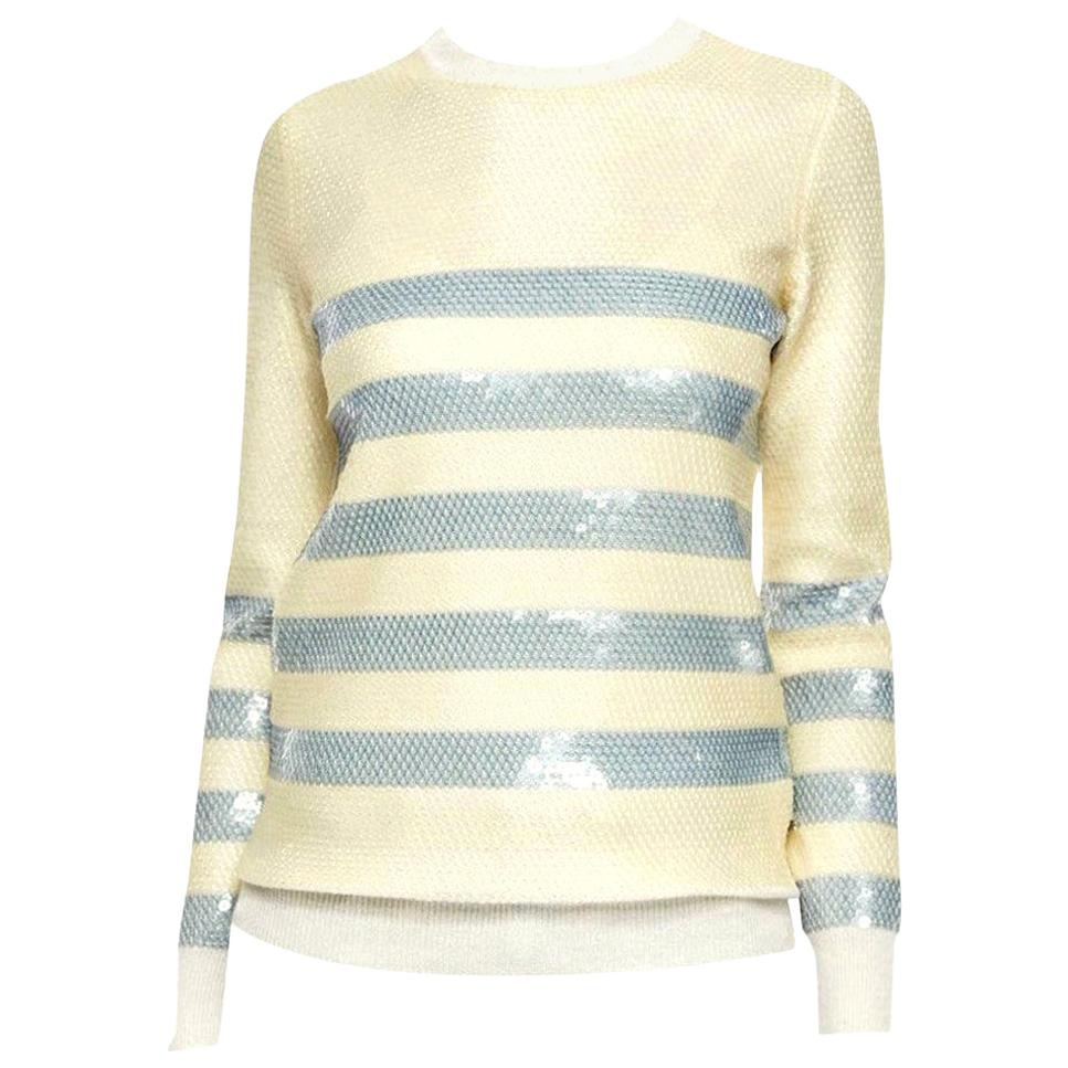 New Gucci Cruise Resort 2015 Ad Cashmere Sequin Sweater  Sz S
