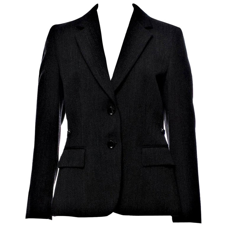 New Gucci F/W 2006 Runway Ad Blazer Coat Jacket Sz 44 For Sale
