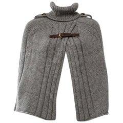 New Gucci F/W 2008 Grey 100% Camel Wool Cape Jacket Coat Sz M
