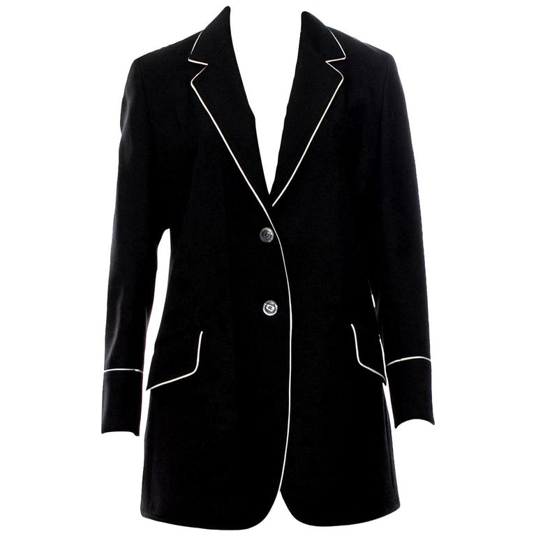 New Gucci F/W 2015 Runway Ad Blazer Coat Jacket Sz 48 U.S. 8/10 For Sale