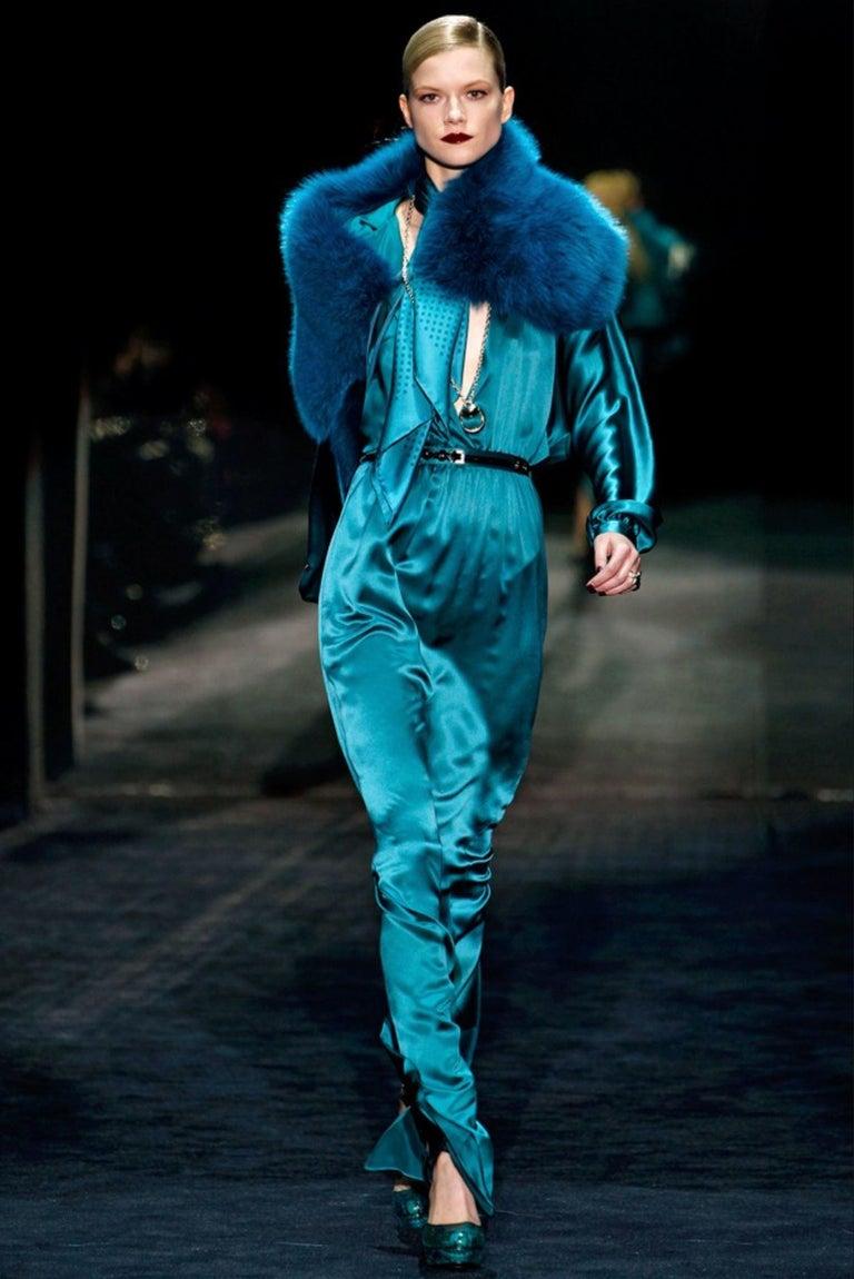 New Gucci 90th Anniversary Fall Runway Python Skakeskin Pump Heels Sz 37   $2425 For Sale 2