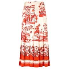 New GUCCI Gucci Porcelain Garden Print Midi Skirt IT40 US 2-4