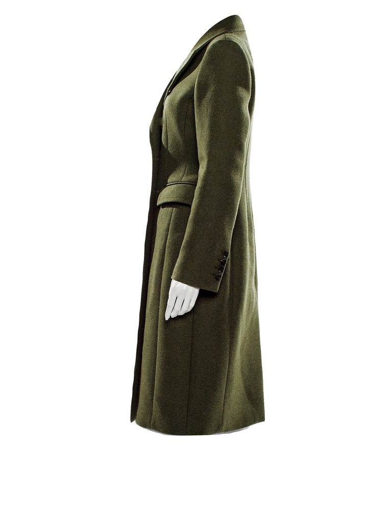 New Gucci Kate Upton Olive Green Wool Coat Jacket Fall 2013 With Tags $3215 In New Condition For Sale In Leesburg, VA