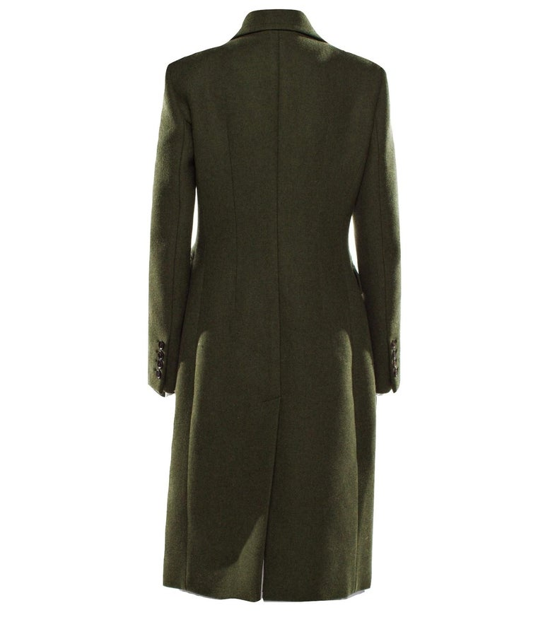 New Gucci Kate Upton Olive Green Wool Coat Jacket Fall 2013 With Tags $3215 For Sale 1
