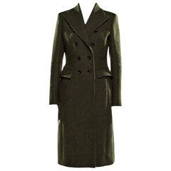 New Gucci Kate Upton Olive Green Wool Coat Jacket Fall 2013 With Tags $3215
