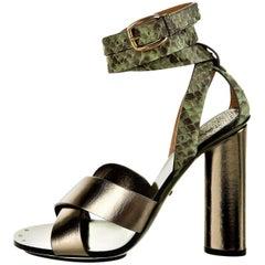 New Gucci Lykke Li Python Spring 2015 Runway Pumps Heels Sz 38