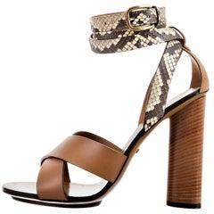 New Gucci Lykke Li Python Spring 2015 Runway Pumps Heels Sz 38.5