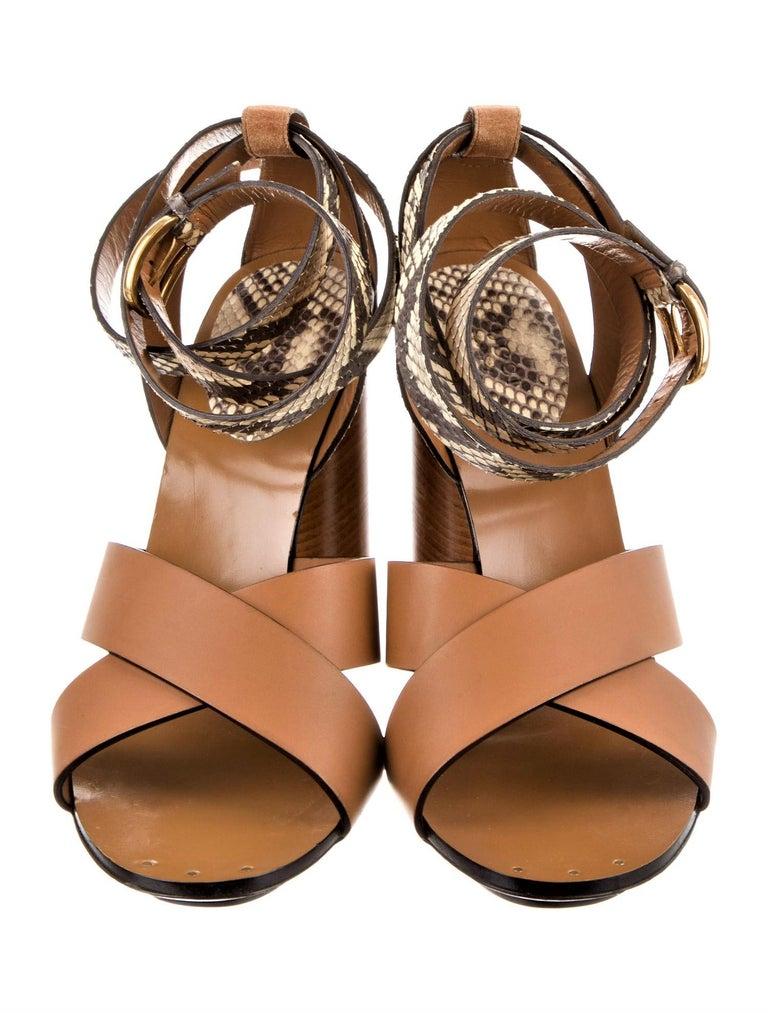 New Gucci Lykke Li Python Spring 2015 Runway Pumps Heels Sz 39.5 For Sale 8