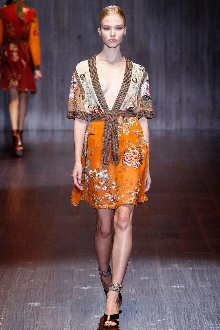 New Gucci Lykke Li Python Spring 2015 Runway Pumps Heels Sz 39.5 For Sale 9