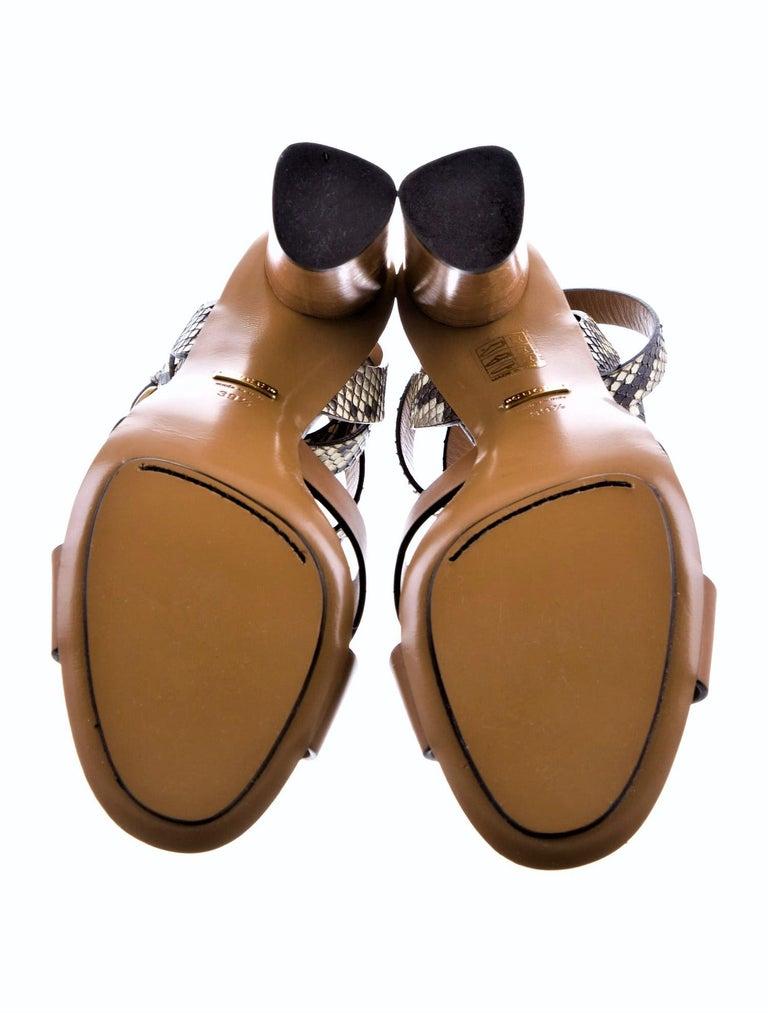 New Gucci Lykke Li Python Spring 2015 Runway Pumps Heels Sz 39.5 For Sale 12