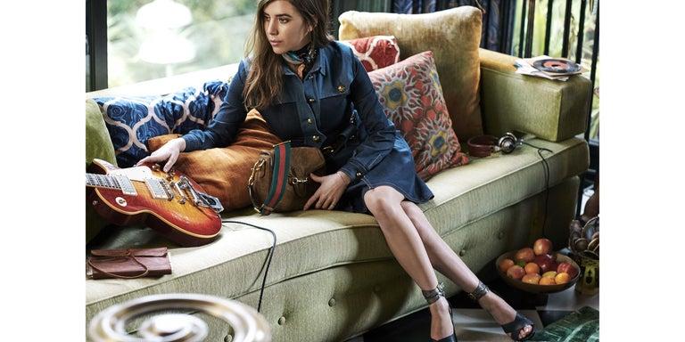 Women's New Gucci Lykke Li Python Spring 2015 Runway Pumps Heels Sz 39.5 For Sale