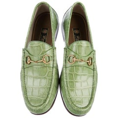 New Gucci Men's Horsebit Crocodile Countryside Loafers 60th ANNIVERSARY Tag