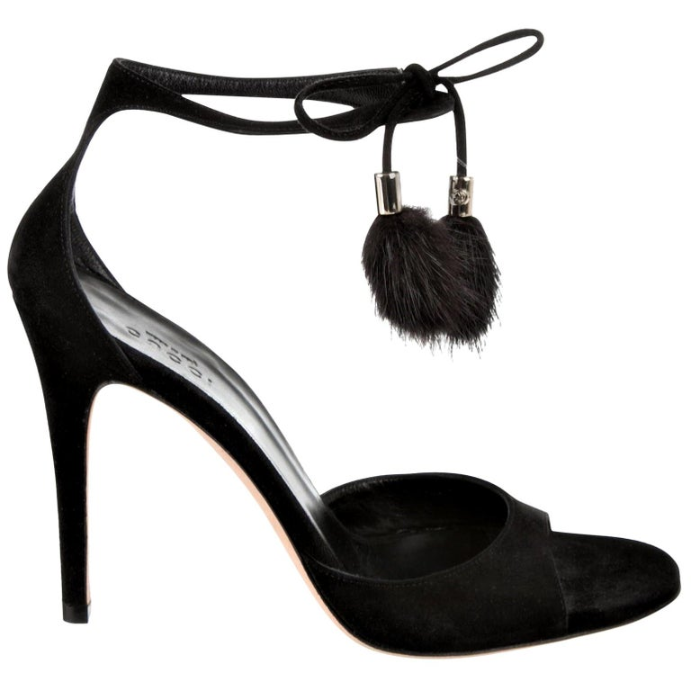 New Gucci Mink Suede Heels Pumps Size 9 For Sale